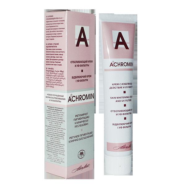 крем achromin отбеливающий с уф фильтрами